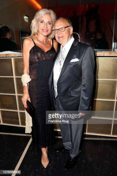 Joseph Vilsmaier and Birgit Muth during the 100th birthday celebration gala for Artur Brauner at Zoo Palast on September 8 2018 in Berlin Germany...