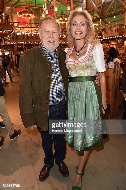 Joseph Vilsmaier and Birgit Muth during the Radio Gong 963 Wiesn during the Oktoberfest 2016 on September 21 2016 in Munich Germany
