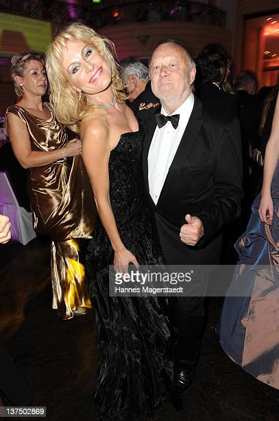 Joseph Vilsmaier and girlfriend Birgit Muth attend the German Filmball at the Hotel Bayerischer Hof on January 21, 2012 in Munich, Germany.