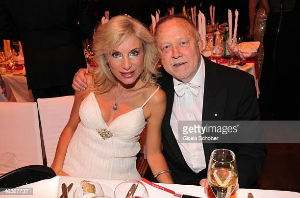 Joseph Vilsmaier and girlfriend Birgit Muth attend the German Film Ball 2014 at Hotel Bayerischer Hof on January 18 2014 in Munich Germany