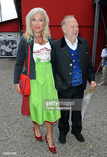 Joseph Vilsmaier and girlfriend Birgit Muth attend the Oktoberfest beer festival at Hippodrom on September 22 2012 in Munich Germany