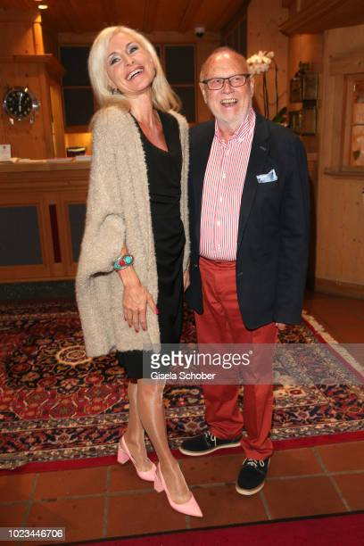 Joseph Vilsmaier and hig girlfriend Birgit Muth during the closing ceremony of the Kitzbuehel Film Festival at Hotel Reisch on August 25 2018 in...