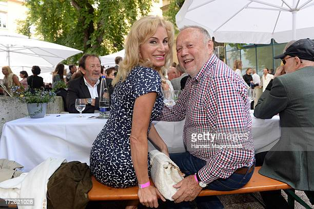 Joseph Vilsmaier and his girlfriend Birgit Muth attend the FFF Reception during the Munich Film Festival 2013 at the Praterinsel on July 4 2013 in...