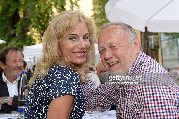 Joseph Vilsmaier and his girlfriend Birgit Muth attend the FFF Reception during the Munich Film Festival 2013 at the Praterinsel on July 4, 2013 in...
