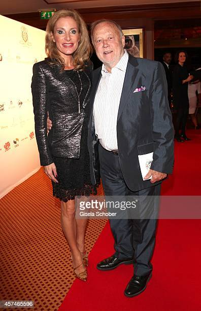Joseph Vilsmaier and his girlfriend Birgit Muth attend the Monti Memorial Charity Gala at Hotel Vier Jahreszeiten on October 18, 2014 in Munich,...