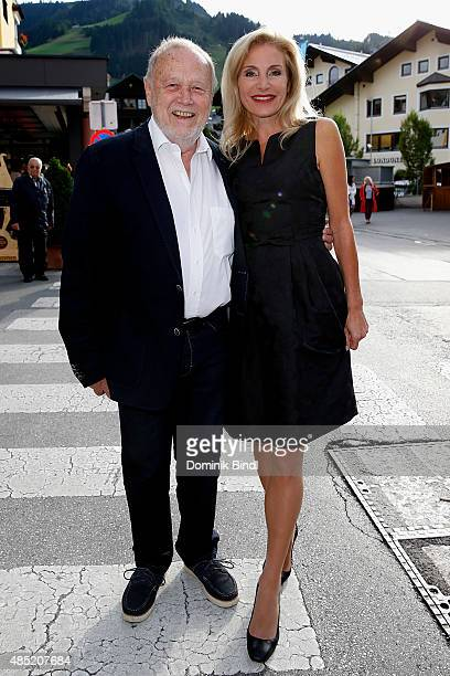 Joseph Vilsmaier and his girlfriend Birgit Muth attend the 'The Search For Freedom' premiere and opening night of the Kitzbuehel Film Festival 2015...