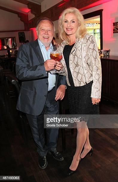 Joseph Vilsmaier and his girlfriend Birgit Muth attend the Wempe Piano Night at Gruenwalder Einkehr on April 30 2014 in Munich Germany