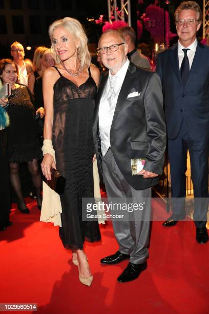 Joseph Vilsmaier and his girlfriend Birgit Muth during the 100th bitrhday celebration gala for Artur Brauner at Zoo Palast on September 8 2018 in...