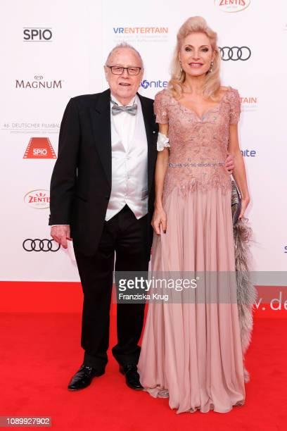 Joseph Vilsmaier and his girlfriend Birgit Muth during the 46th German Film Ball at Hotel Bayerischer Hof on January 26, 2019 in Munich, Germany.