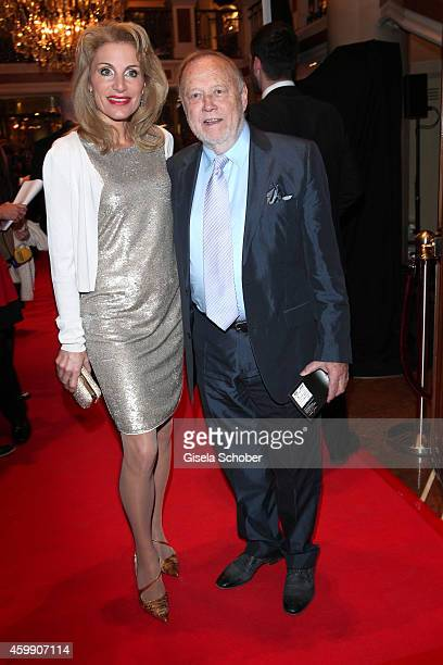 Joseph Vilsmaier and his girlfriend Birgit Muth during the Audi Generation Award 2014 at Hotel Bayerischer Hof on December 3 2014 in Munich Germany