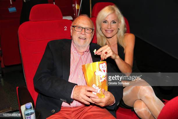 Joseph Vilsmaier and his girlfriend Birgit Muth during the closing ceremony of the Kitzbuehel Film Festival on August 25 2018 in Kitzbuehel Austria