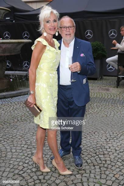 Joseph Vilsmaier and his girlfriend Birgit Muth during the Mercedes-Benz reception at 'Klassik am Odeonsplatz' on July 14, 2018 in Munich, Germany.