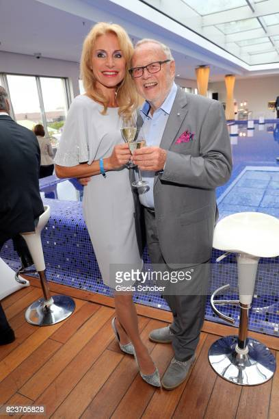 Joseph Vilsmaier and his girlfriend Birgit Muth during the summer party of and at Hotel Bayerischer Hof on July 27 2017 in Munich Germany