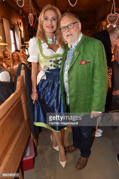 Joseph Vilsmaier and his partner Birgit Muth attend the Radio Gong 963 Wiesn during the Oktoberfest 2017 on September 20 2017 in Munich Germany