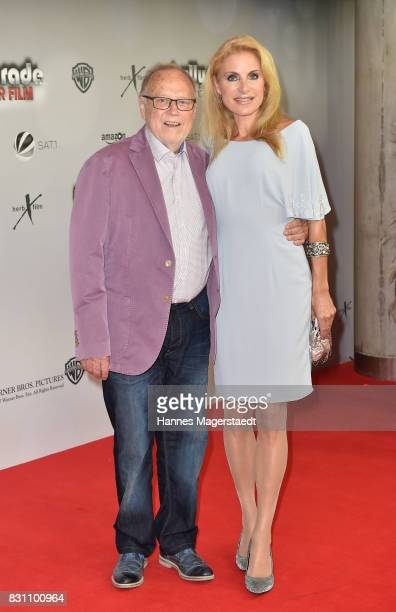 Joseph Vilsmaier and his partner Birgit Muth during 'Bullyparade Der Film' premiere at Mathaeser Filmpalast on August 13 2017 in Munich Germany