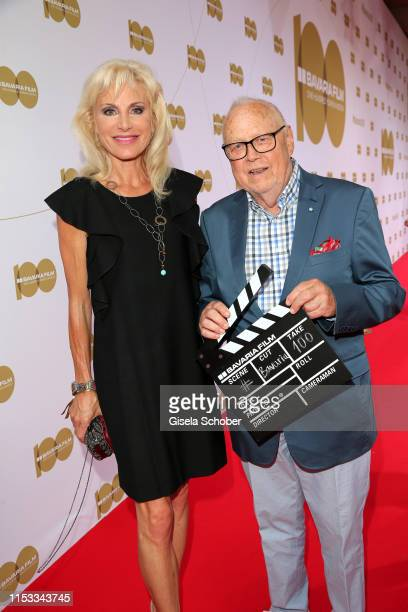 Joseph Vilsmaier and his partner Birgit Muth during the Bavaria Film Reception One Hundred Years in Motion on the occasion of the 100th anniversary...