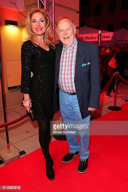 Joseph Vilsmaier and his partner Birgit Muth during the premiere of the musical 'Chicago' at Deutsches Theatre on March 6 2016 in Munich Germany