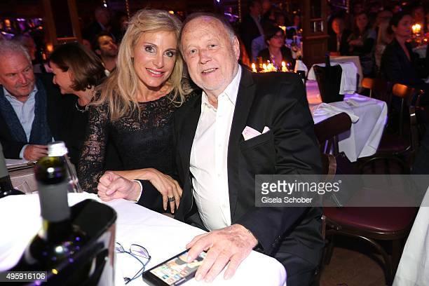 Joseph Vilsmaier and his partner Birgit Muth during the VIP premiere of Schubecks Teatro's program 'Herzstuecke' at Spiegelzelt on November 5 2015 in...