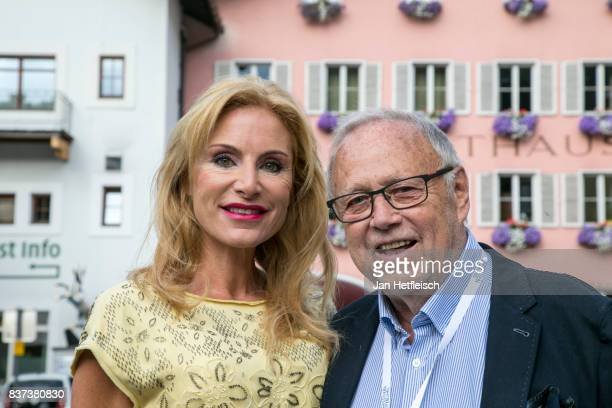 Joseph Vilsmaier and his partner Birgit Muth pose for a picture the 'Inconvenient Sequel' premiere and opening night of the Kitzbuehel Film Festival...