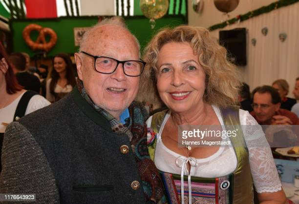 Joseph Vilsmaier and Michaela May during the BMW Armbrustschiessen as part of the Oktoberfest 2019 at Armbrust-Schuetzenfesthalle at Theresienwiese...
