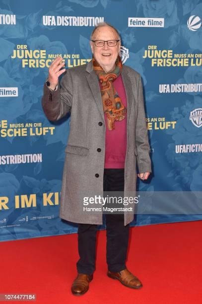 Joseph Vilsmaier attends the premiere of the movie 'Der Junge muss an die frische Luft' at Mathaeser Filmpalast on December 20, 2018 in Munich,...