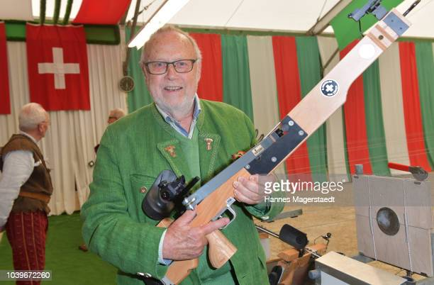 Joseph Vilsmaier during the BMW Armbrustschiessen as part of the Oktoberfest 2018 at Armbrust-Schuetzenfesthalle at Theresienwiese on September 24,...