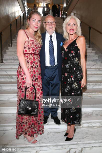 Joseph Vilsmaier with his partner Birgit Muth and her daughter Caroline Diekmann during the 'Oper fuer alle Parsifal' as part of the Munich Opera...