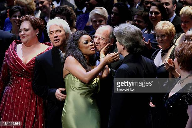 Joseph Volpe Gala at the Metropolitan Opera on Saturday night May 20 2006This imageCurtain call for Joseph VolpeFrom left Stephanie Blythe Dmitri...