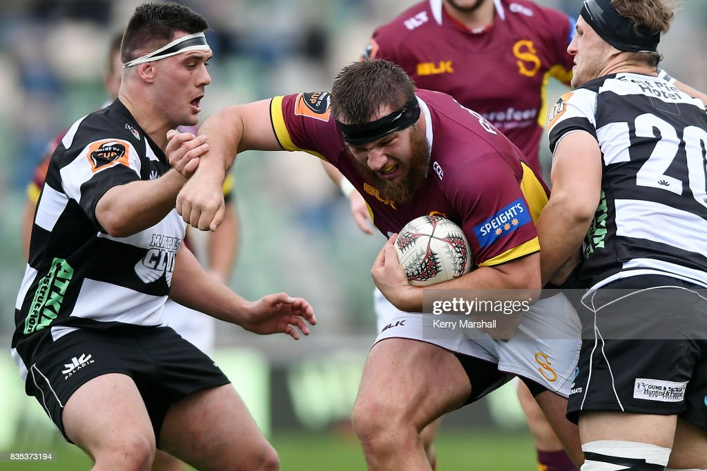 Joseph Walsh of Southland in action during the round one Mitre 10 Cup match between the Hawke's Bay and Southland at McLean Park on August 19, 2017 in Napier, New Zealand.