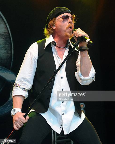 Joseph Williams of Toto performs at Chastain Park Amphitheater on August 14 2013 in Atlanta Georgia
