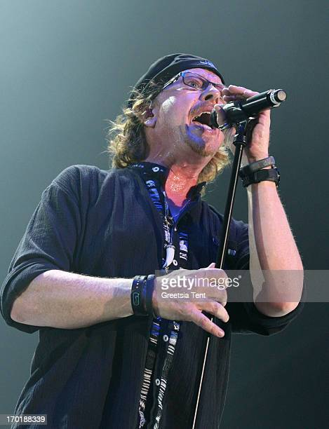 Joseph Williams of Toto performs at the Ziggo Dome on June 8 2013 in Amsterdam Netherlands