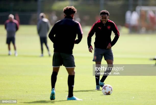 Joseph Willock of Arsenal during Arsenal training at London Colney on September 13 2017 in St Albans England