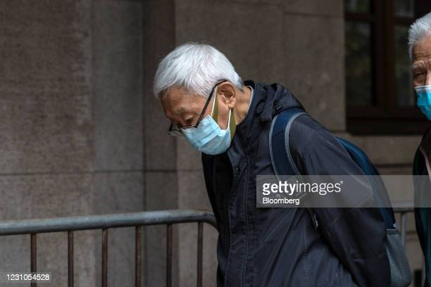 Joseph Zen, cardinal of the Holy Roman Church, leaves the Court of Final Appeal after Next Digital Ltd. Founder Jimmy Lai is being remanded in...