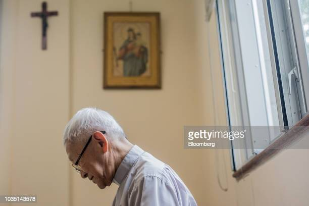 Joseph Zen cardinal of the Holy Roman Church listens during an interview in Hong Kong China on Saturday Aug 18 2018 Zen  the retired but still...