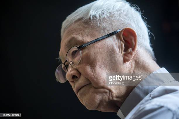 Joseph Zen, cardinal of the Holy Roman Church, listens during an interview in Hong Kong, China, on Saturday, Aug. 18, 2018. Zen-- the retired but...