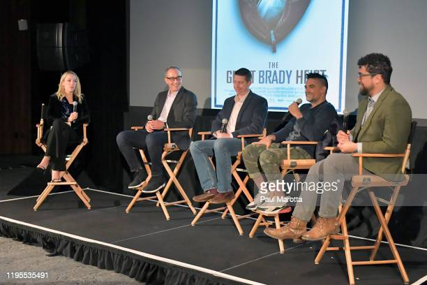Joseph Zucco Senior Producer and Director NFL Films and Michael Tolajian SVP and Executive Producer of FOX Sports Films attend the FOX Sports Films'...