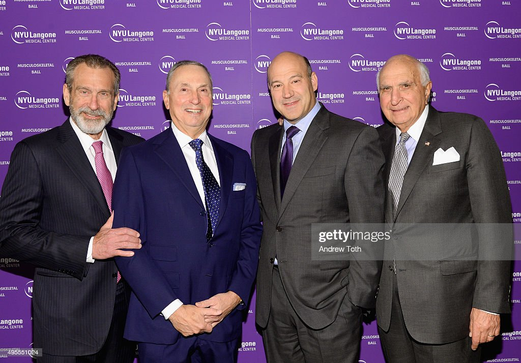 Joseph Zuckerman, MD., Robert Grossman, MD., Gary Cohn and Kenneth Langone attend NYU Langone Musculoskeletal Ball 2015 on November 3, 2015 in New York City.
