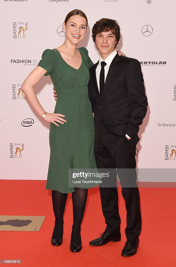 Josephin Busch and Sebastian Urzendowsky attend Kryolan at the Bambi Awards 2014 on November 13, 2014 in Berlin, Germany.