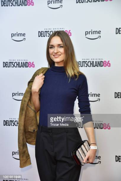 Josephin Busch attends the premiere for the film 'Deutschland86' at Kino International on October 11 2018 in Berlin Germany