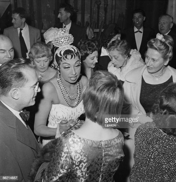Josephine Baker American artist of music hall Paris Olympia 1959