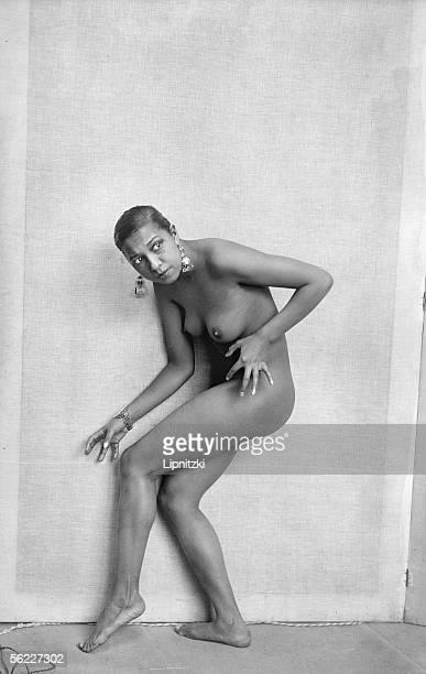 Josephine Baker American artist of music hall Sitting in the studio of Paul Colin Paris May 1926 LIP12242