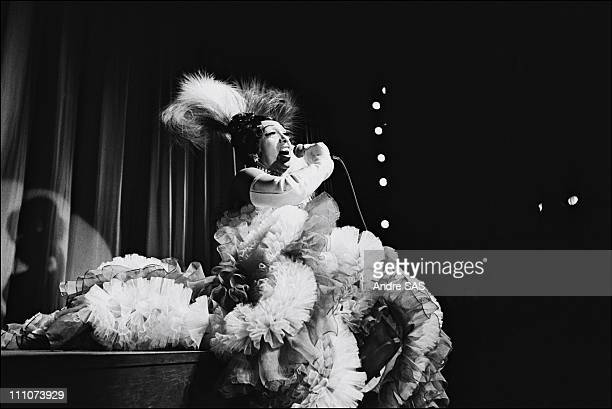 Josephine Baker at the Olympia in Paris France in March 1968 approval is required for Watsa 38 rue de la Condamine 75017 Paris 33 1 48 07 52 00