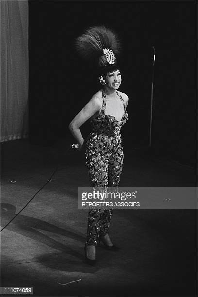 Josephine Baker at the Olympia in Paris France on April 25th 1964 approval is required for Watsa 38 rue de la Condamine 75017 Paris 33 1 48 07 52 00