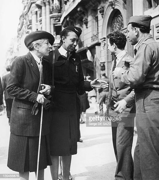 Josephine Baker In Paris France On August 08 1945 Resistant notorious on the Champs Elysees