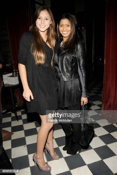 "Josephine Becker and Priya Shukla attend ""The Teen Vogue Handbook"" Launch Party Hosted by Amy Astley at Rose Bar on October 13, 2009 in New York City."
