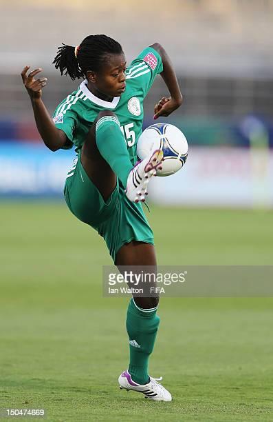 Josephine Chukwunonye of Nigeria during the FIFA U-20 Women's World Cup Japan 2012, Group B match between Nigeria v Korean Republic at Komaba Stadium...