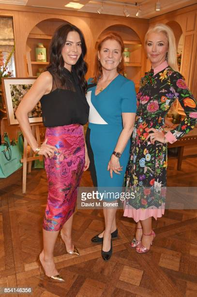 Josephine Daniel Sarah Ferguson Duchess of York and Tamara Beckwith attend the 4th annual Ladies' Lunch in support of the Silent No More...