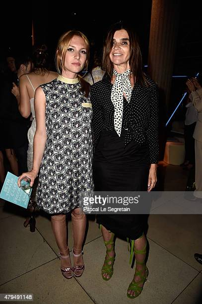 Josephine de La Baume and Carine Roitfeld attend the Miu Miu Club launch of the first Miu Miu fragrance and croisiere 2016 collection at Palais...