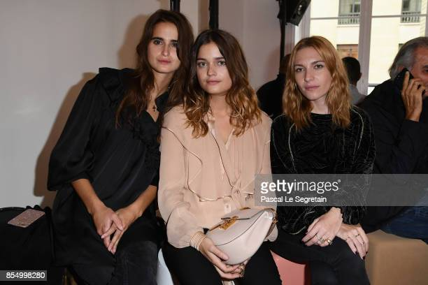 Josephine De La Baume and guests attend the Chloe show as part of the Paris Fashion Week Womenswear Spring/Summer 2018 on September 28 2017 in Paris...
