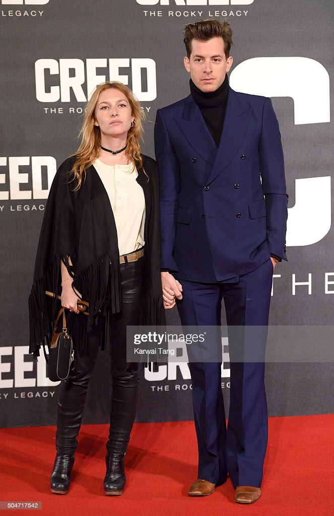 Josephine De La Baume and Mark Ronson attend the European Premiere of 'Creed' on January 12, 2016 in London, England.